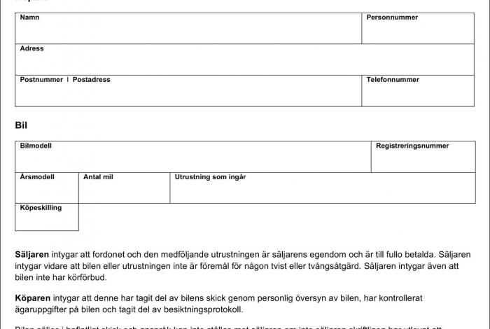 Umowa/faktura/rachunek (Köpekontrakt/faktura/kvitto/kvittens)