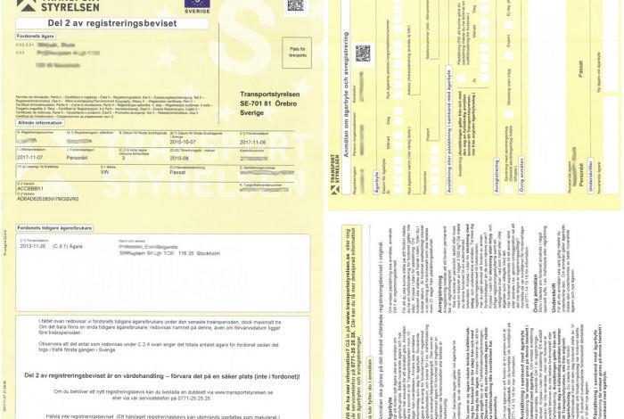 Dowód rejestracyjny żółty